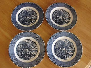 Vintage Currier & Ives The Old Grist Mill by Royal China 10 Dinner