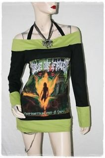 Cradle Of Filth COF Black Metal Rock DIY Funky Corset Hoodie Top Shirt