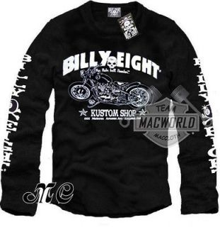 SHIRT BILLY EIGHT KUSTOM SHOP CHOPPERS SKULL RAT ROD HATE BALL