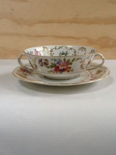 Czechoslovakia Victoria China Cold Soup cup & saucer