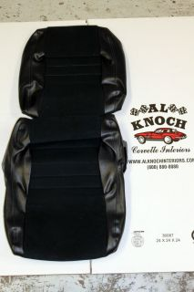 1978 1982 Corvette Custom Dk Blue w/Cloth Inserts Seat Covers (Fits