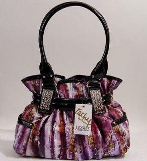 NEW Kathy Van Zeeland Purple Shopper Tote Handbag Bag