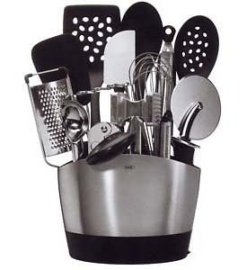 Good Grips Stainless Steel Utensil Caddy Kitchen Accessory Brand New