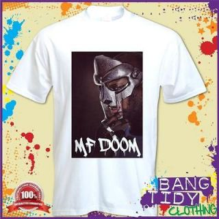 MF Doom Mask Inspired Doomsday Metal Fingers Hip Hop Music Mens T