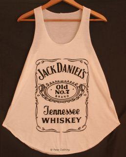 Jack Daniels print Tank Vest Ladies Girls Top Sleeveless T Shirts