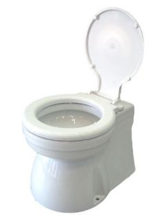 ELECTRIC MARINE TOILET HOME TYPE SMALL SEAT&COVER 12V.