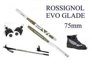 EVO GLADE AR cross country 75mm SKIS/BINDINGS/ BOOTS/POLES   166cm