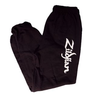 Zildjian Cymbals Classic Sweat Pants Black Elastic Waist N Ankles   S