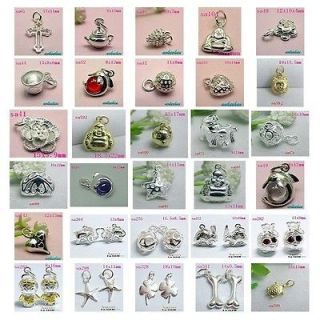 VARIOUS 925 STERLING SILVER DANGLE JEWELRY BEADS PENDANT CHARMS FIT