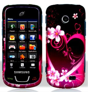 Heart   Straight Talk Samsung SGH T528G Protective Phone Cover Hard