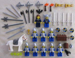 CASTLE KNIGHT MINIFIG LOT figures people men Crown minifigures guys