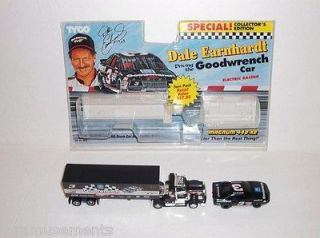 DALE EARNHARDT NASCAR RACE CAR & SEMI TRUCK/RIG TYCO HO SLOT SET GIFT