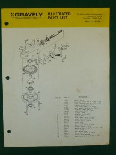 GRAVELY PLOW/CULTIVATOR PARTS MANUAL MODEL # 23334