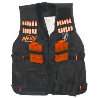 Tactical Vest kit includes 2 clear clips and 12 clip system darts