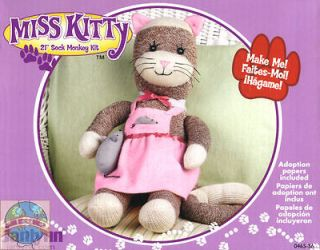 Sewing / Embroidery Kit ~ Janlynn 21 Sock Monkey Miss Kitty Cat #0465