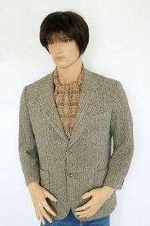 Vintage Harris Tweed Blazer Jacket Indie Retro Gent Dapper Dr Who 40