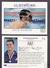 1992 U.S. OLYMPIC HOPEFULS DAVID WHARTON SWIMMING CARD