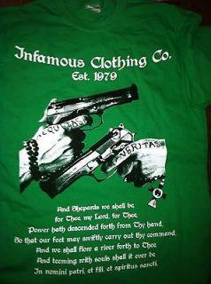 Saints shirt AUQITAS GREEN walking dead boondock Darryl SAMCRO Large