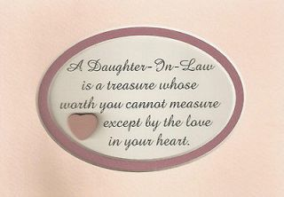 DAUGHTERs IN LAW Treasure LOVE Heart WORTH Measure FAMILY verses poems