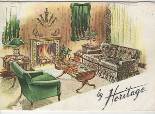 Vintage Drexel Heritage Furniture Brochure 1950s or 1960s