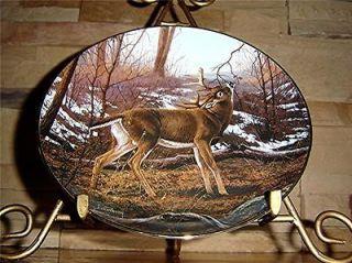 Majestic Whitetails SIGN POST Hayden Lambson DANBURY MINT Deer Buck