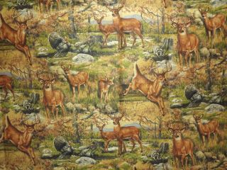 Deer Hunting Wild Game Cabin Window Curtain Valance (42Wx16L)