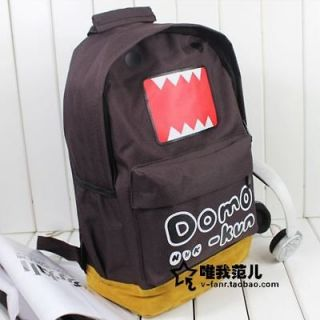 New Japanese Cartoon Domo Kun Paul Frank Boys Canvas Backpack