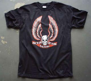 Harley Davidson t shirt vtg retro style sportster motorcycle 03b