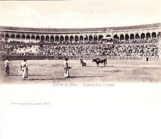 Bullfight, Corrida de Toros, Entrando a Matar, Spain c1900 Unused EX