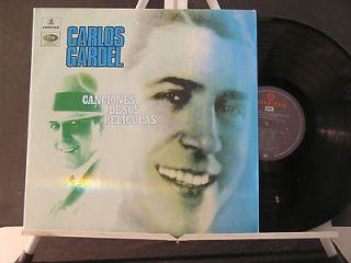 CARLOS GARDEL CANCIONES DE SUS PELICULAS COLOMBIA LP NM