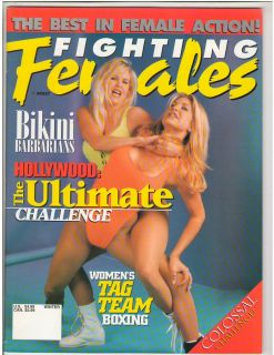 Females Wrestling Magazine Divas Bikini Barbarians Denise Masino