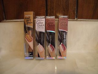 NEW LOT OF 4 SALLY HANSEN COLOR QUICK NAIL COLOR PEN