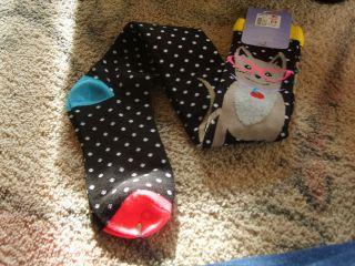 Womens over knee socks Cat Dog Nerds Glasses novelty socks FREE SHIP