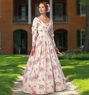 SEWING PATTERN 5832 MISSES CIVIL WAR ERA LAWN GOWN DAY DRESS 6 14