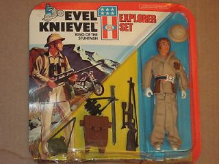 NIP 1975 Ideal Toy   EVEL KNIEVEL King of the Stuntmen EXPLORER SET