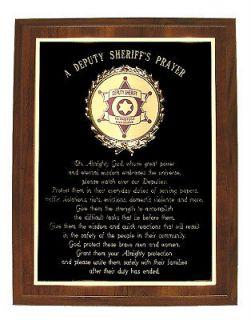 DEPUTY SHERIFFS PRAYER PLAQUE   GREAT GIFT
