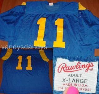 vtg LA los ANGELES rams JIM everett JERSEY shirt 80s rawlings SHIRT xl