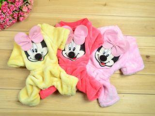 Good Dog Puppy Pet Clothes Mickey Bowtie Pants Jumpsuit 3 Colors free