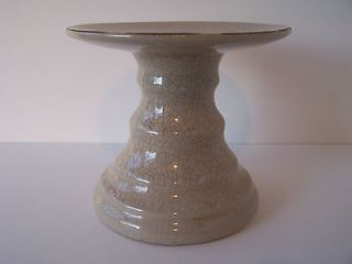 Stand or Plant Stand Almond Crackle Glaze Stand Diameter 6.50