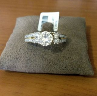 Gold Diamonds Station Solitaire Wrap Ring Guard solitaire enhancer