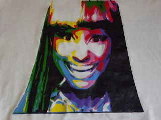 HAND PAINTED CUSTOM NICKI MINAJ T SHIRT GRAFFITI PERSONALISED SALE