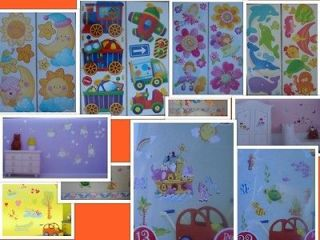 GIRLS BOYS BABIES KIDSS BEDROOM NURSERY WALL STICKERS ANIMAL FISH