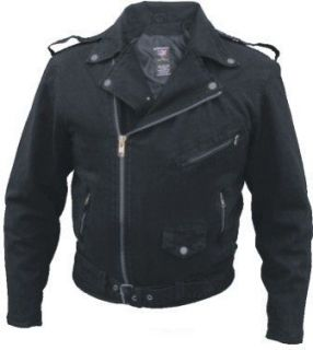 Motorcycle Bikers Vintage Style Black Denim Jacket