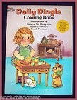 Rare 1983 VINTAGE Repro DOLLY DINGLE Unused COLORING BOOK Grace