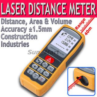 Laser Distance Meter Area Volume Range Finder Accuracy ±1.5mm 40m