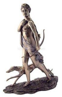 NEW Diana the Huntress Roman Mythology Bronze Statue