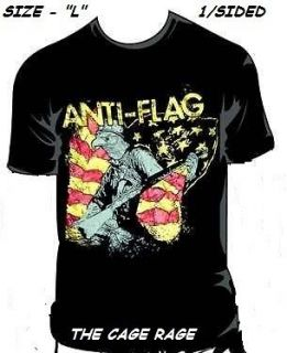 ANTI FLAG   T SHIRT   ARMED EAGLE   PUNK ROCK BAND  L   NEW**