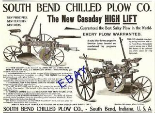 1900 SOUTH BEND IN NEW CASADAY HIGH LIFT SULKY PLOW AD