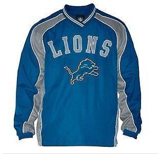 Detroit Lions Official NFL Slotback Pullover Jacket S M L XL XXL NWT