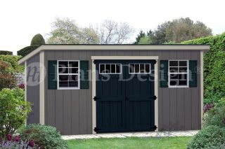 Storage Shed Plans 6 x 16 Modern Roof style #D0616M, Material List